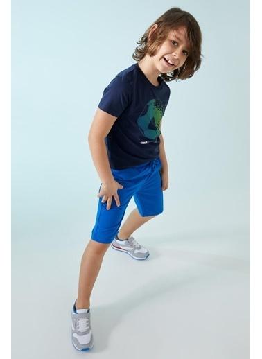 DeFacto Erkek Çocuk Renk Bloıklu Bermuda Şort Mavi